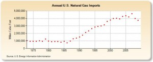 Import gazu ziemnego do Stanów Zjednoczonych